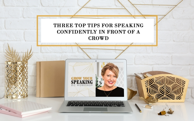 Three Top Tips For Speaking Confidently In Front of a Crowd
